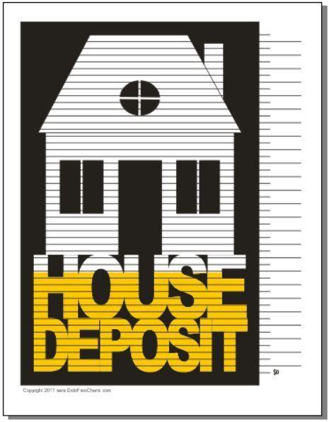 House Deposit Debt Free Charts Savings Chart Money Down Payment