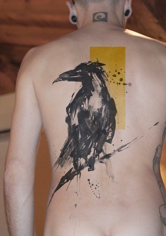 A raven in sumi-e style project by Niko Inko.