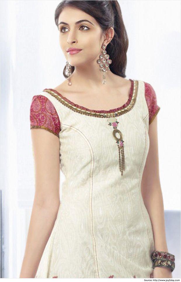 Cotton Salwar Kameez Neck Designs | Salwar Neck Pattern