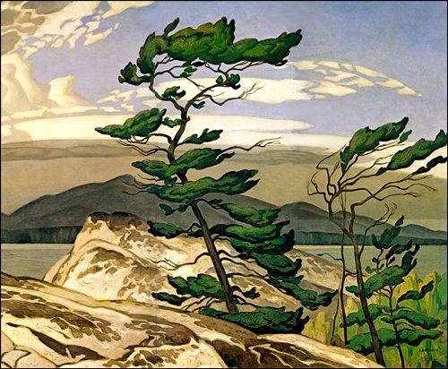 A.J. Casson (Ontario 1898-1992)- The White Pine - Canada Painting Circa 1948