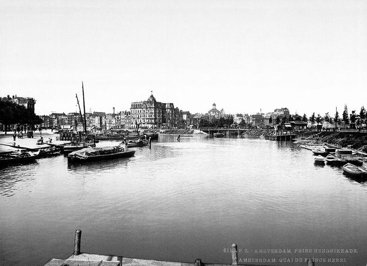 Amsterdam 1898. De Prins Hendrikkade.