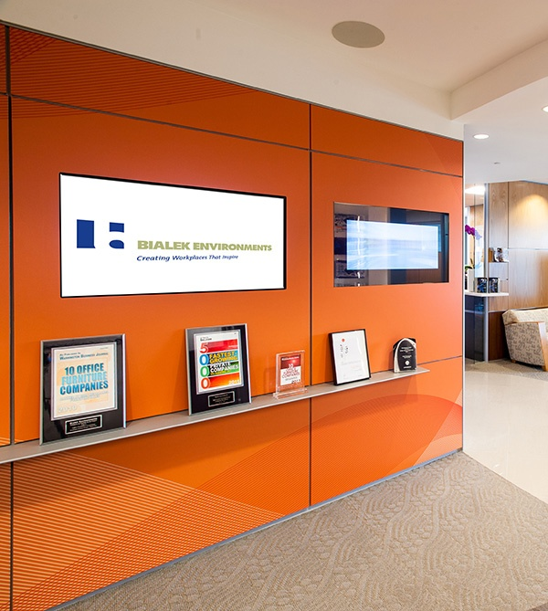 DIRTT Technology Wall With 16 Embedded TVs | Technology | Pinterest |  Student Centered Resources, Orange And Technology