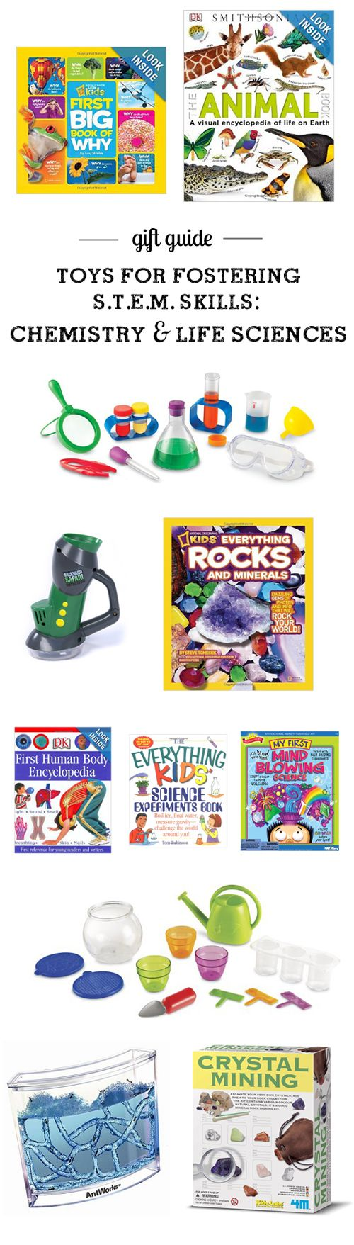 MPMK Toy Gift guide: Top S.T.E.M.  toys (Science, Technology, Engineering, & Math)  for all ages - so many cool picks I'd never thought of and I love, LOVE the detailed descriptions and age recommendations. Such an amazing resource!