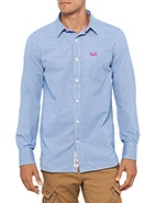 Superdry Premium Dress Shirt  #davidjones #superdry #menswear #blue #fashion