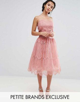 Комбинируемый кружевной корсет и юбка Chi Chi London Petite