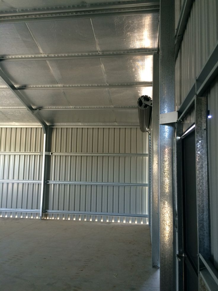 Ranbuild shed. View from inside, looking at gable wall, side wall. Built by Kieren Lee Plumbing & Construction 0428690696