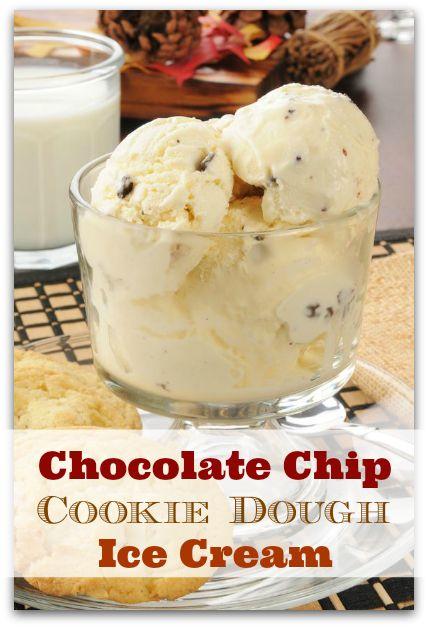 Homemade Chocolate Chip Cookie Dough Ice Cream. Click for recipe. Bakerette.com