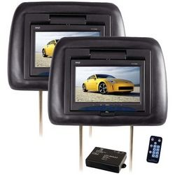 "Pyle 7"" Adjustable Headrest Monitors With Ir Transmitter (pack of 1 Ea)"