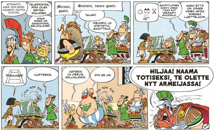 Asterix legioonalaisena nyt lehtipisteissä kautta maan! #Asterix #sarjis #sarjakuva #klassikko #parhaus #armeija #kuri #kapina