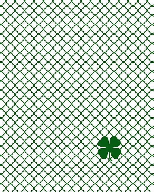 Four leaf clover printable