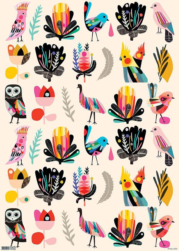 Bird Wonderland FLAT IW-BW FL FOLD IW-BW FA