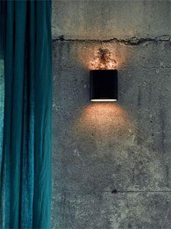 Industrieel interieur - betonnen muur