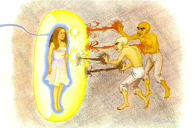 Les Archontes , Le corps éthérique et le corps physique
