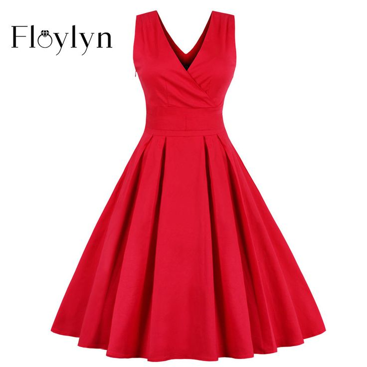 Mystic River Online Floylyn Sleeveless, Backless Red Dress For Women's Pleated V Neck Dress With Bow In Plus Sizes