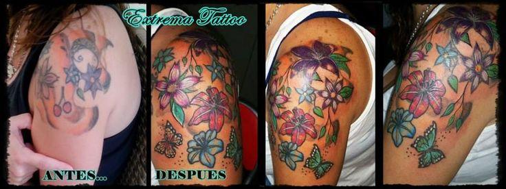 Extrema Tattoo COVER UP (ARREGLO ANTIGUO TATUAJE) #tatuajesbadajoz #tattoo #bodyart