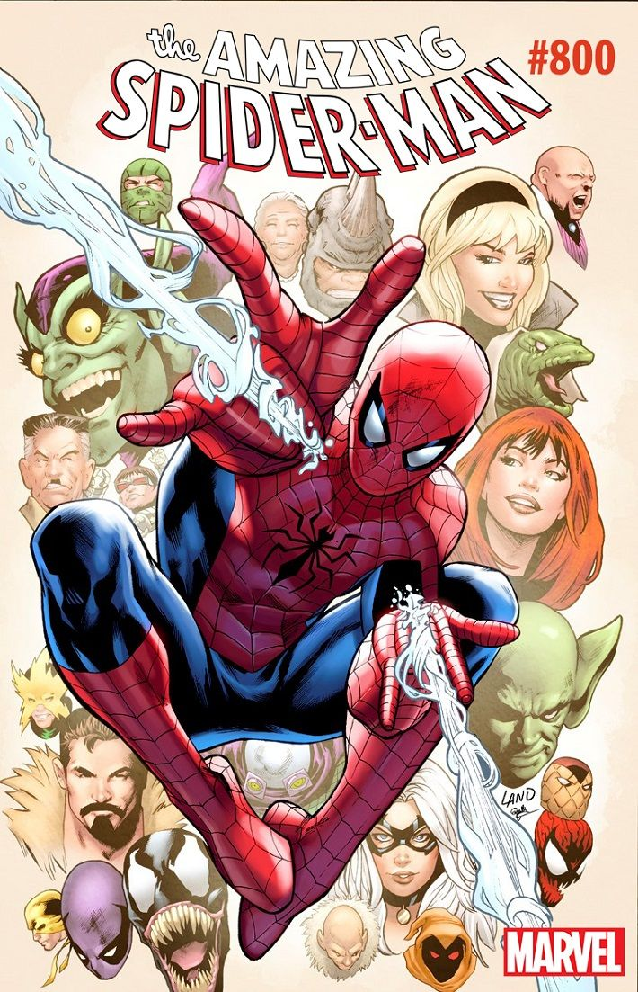 Greg Land Celebrates Amazing Spider Man 800th Issue With A Variant