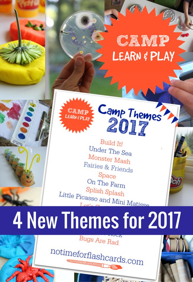Camp Learn & Play is the BEST free summer camp at home. Everything is planned out, only two activities a day and book lists for every theme too!