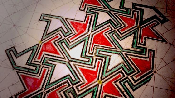 How To Draw Geometric Patterns Moorish Wedge Tiling