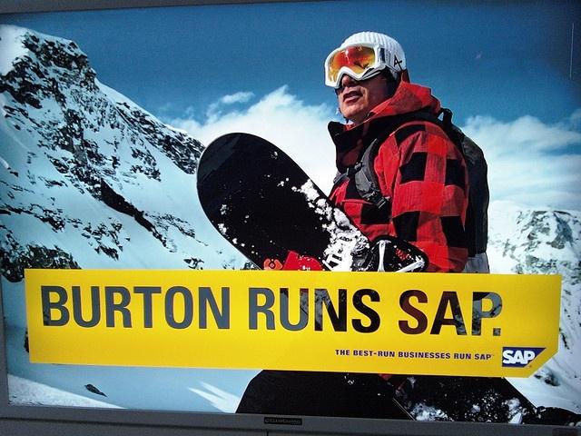 Burton Runs SAP, photo by MikeSisson via Flickr