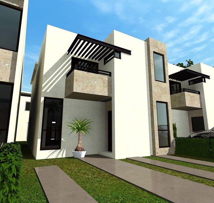 M s de 25 ideas incre bles sobre fachadas de casas chicas for Fachadas de casas modernas en hermosillo