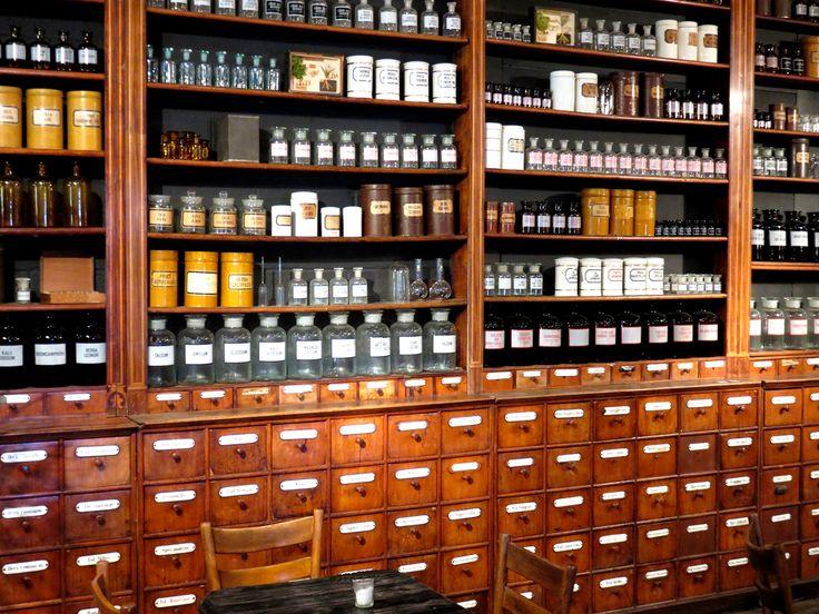 Vintage Wood Medicine Cabinet - http://www.hudsongoodsblog.com/vintage-wood-medicine-cabinet/