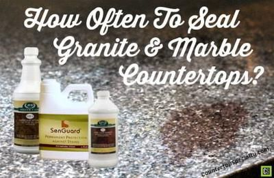 Secrets to Sealing & Re-Sealing Granite Countertops: QUESTION: I am looking at Santa Cecilia granite countertops or a New Venetian Gold granite slab.   Are these granites that need to be sealed?   How often