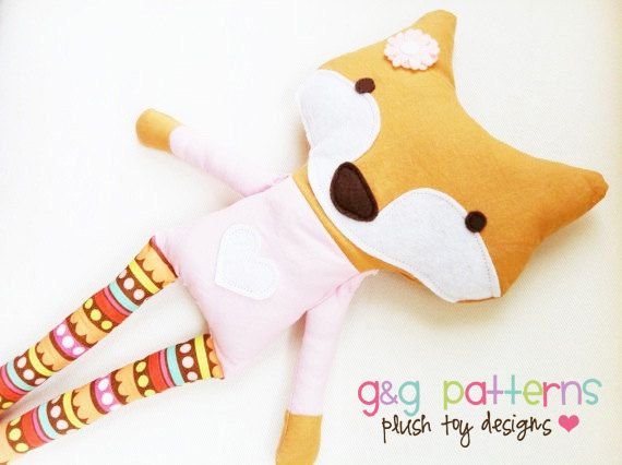 Fox Sewing Pattern Fox Doll PDF Softie Toy Pattern