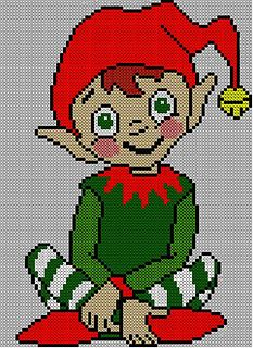 christmas elf jumper sweater knitting pattern pattern by