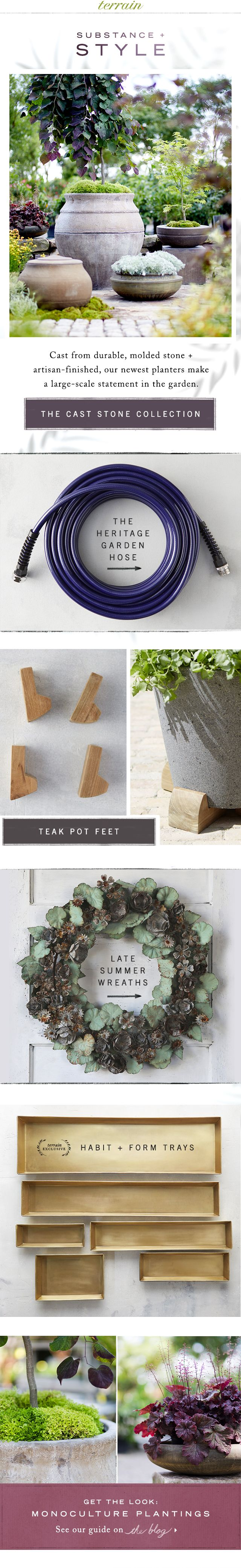 Cast stone #planters arrive in the garden at #shopterrain August 6