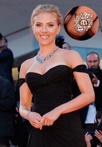 Os anéis de noivado mais extravagantes das famosas | Scarlett Johansson