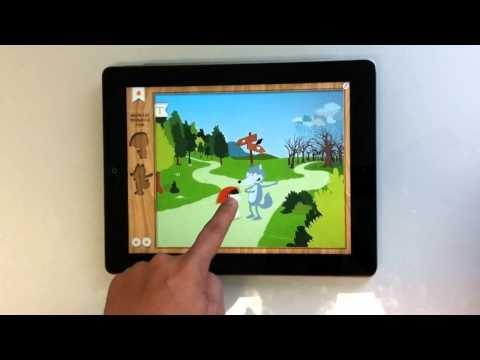 Aplicaciones Ipad para niños - Caperucita Roja - Cuentos interactivo - Cantajuegos - colorear