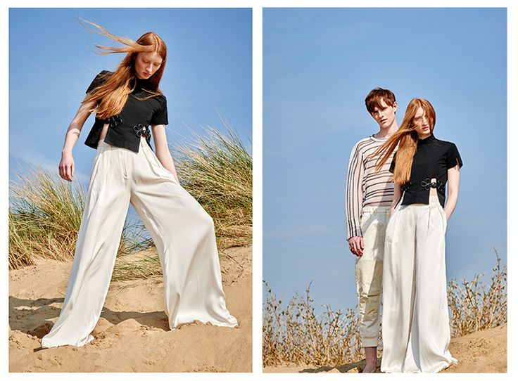 Isabel Garcia white silk Palazzo trousers in 'Beach Combers' editorial in Something About Magazine.   http://bit.ly/1cztjDY