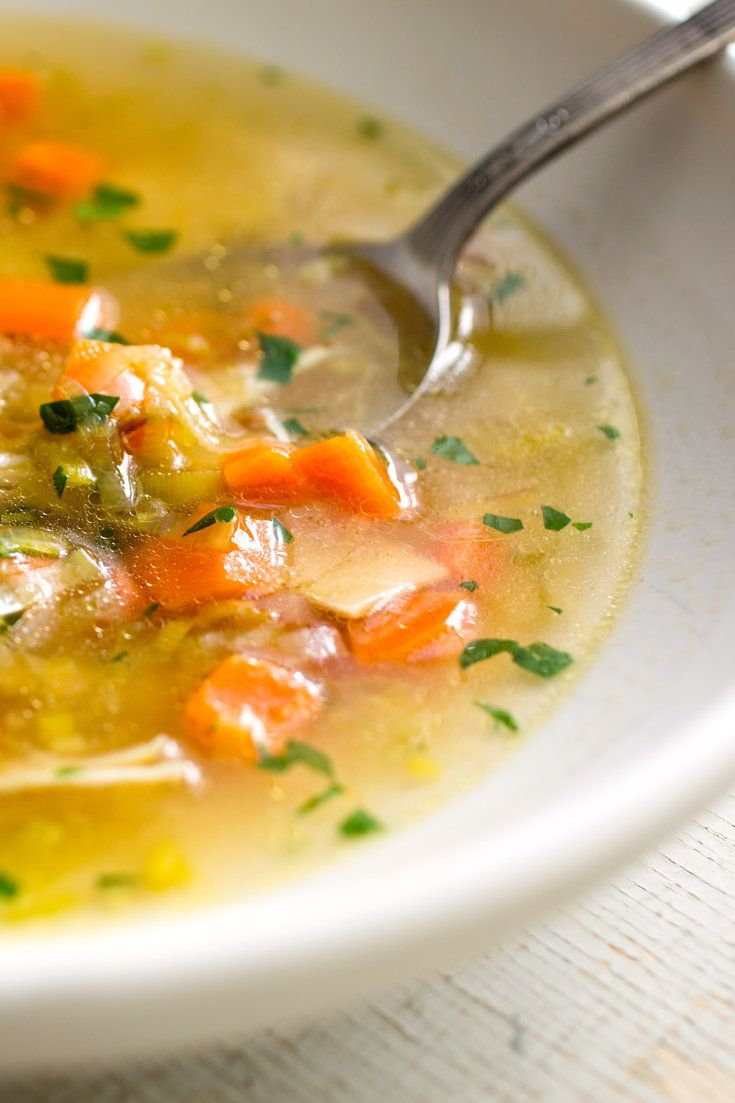 NYT Cooking: Chicken soup is one of the most painless and pleasing recipes a home cook can master. This soup has all the classic flavors (celery, carrot, parsley) but has been updated for today's cooks, who can't easily buy the stewing hen and packet of soup vegetables that old-fashioned recipes used to call for. A whole bird provides the right combination of fat, salt and flavor.%...