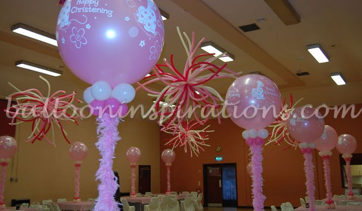 Best 25 christening balloons ideas on pinterest 21st balloons balloon ideas and christening - Decorations for a baptism ...