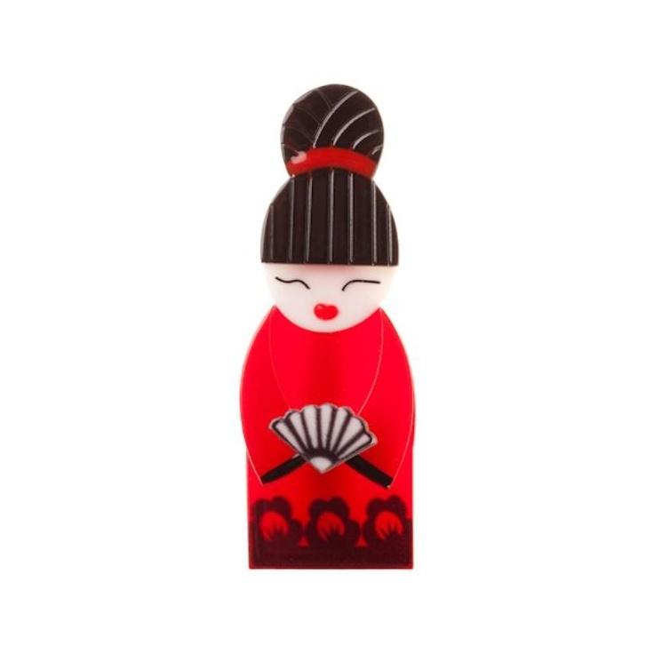 Japanese Geisha Brooch by Erstwilder Designs
