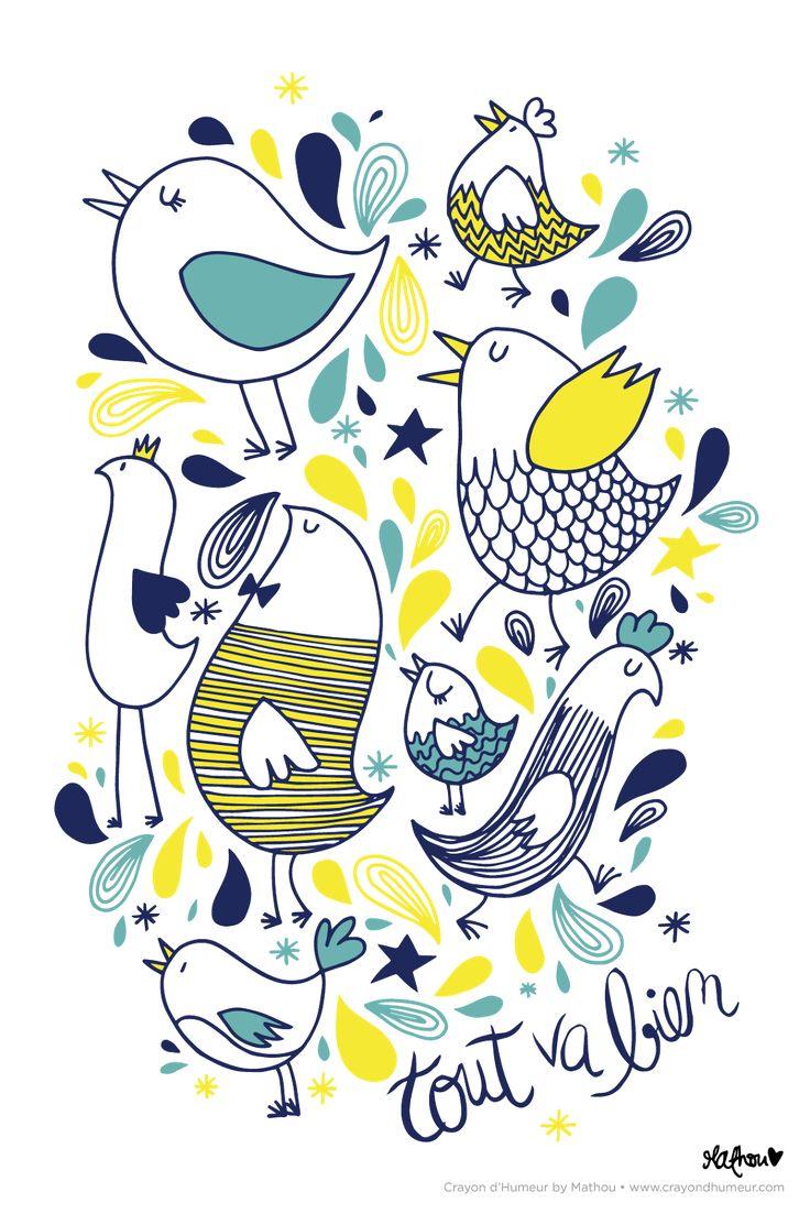 Des oiseaux joyeux pour vous souhaiter un beau vendredi, et un bon week-end (prolongé pour ceux qui peuvent prolonger ^^)   Belle journé...
