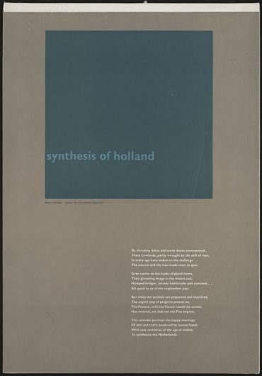 Wim Crouwel - Synthesis of Holland