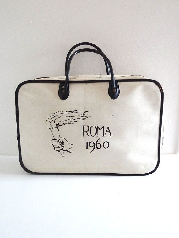 Vintage Sports Bag Olympic Games Rome 1960 by BrocAndPop on Etsy