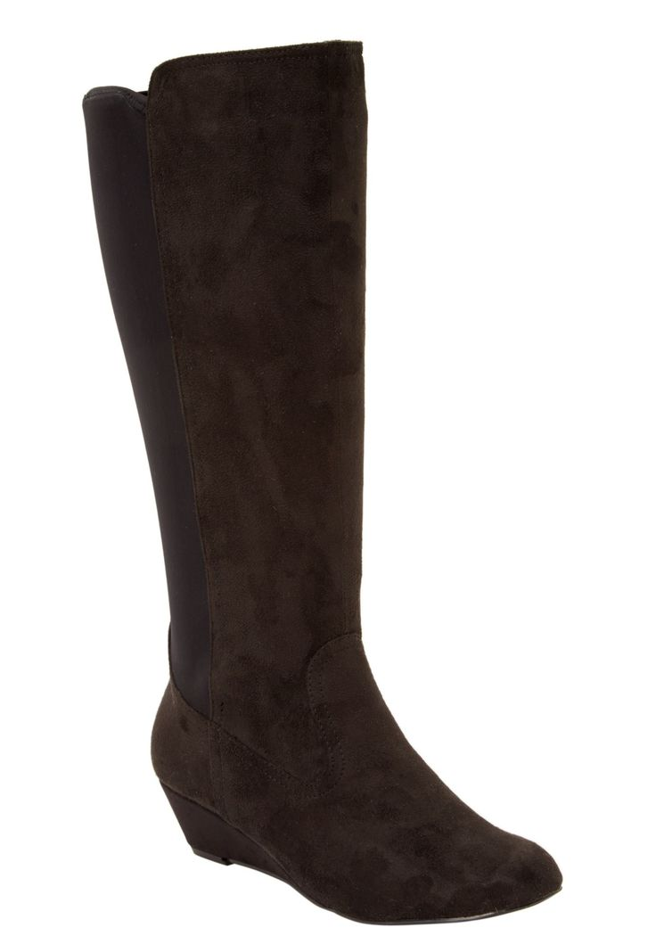 plus size selyse wide calf boot shoes boots heels