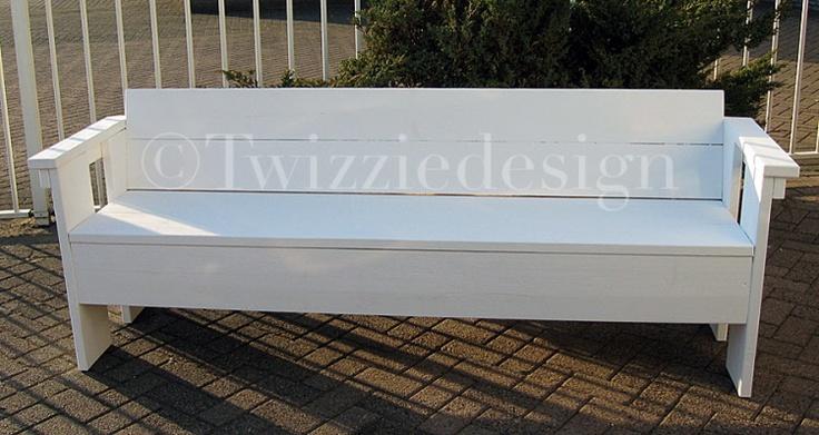 Twizziedesign steigerhout tuinbank