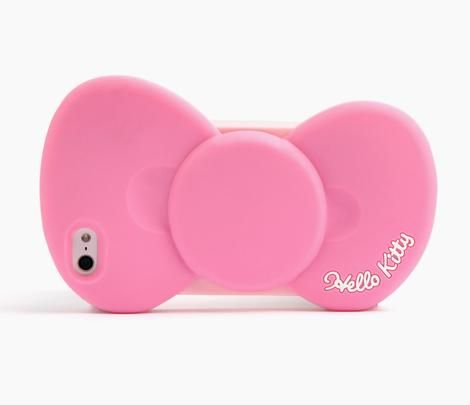 Hello Kitty iPhone 5 Soft Case: Pink Bow-The newest Iphone needs to come out already so I can get this!