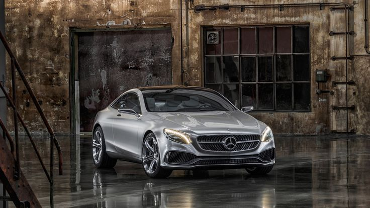 Mercedes Benz S Class Coupe in steel silver