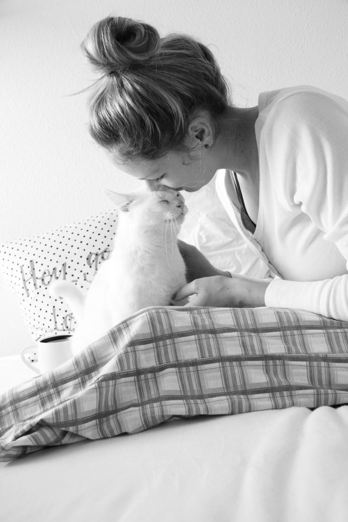 Sunday Morning -  Cuddle Time with my Cat