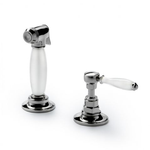 Captivating Waterworksu0027 Easton Vintage Spray, White Porcelain Lever Handle And Sprayer  Grip. Item No · Faucet KitchenKitchen ...