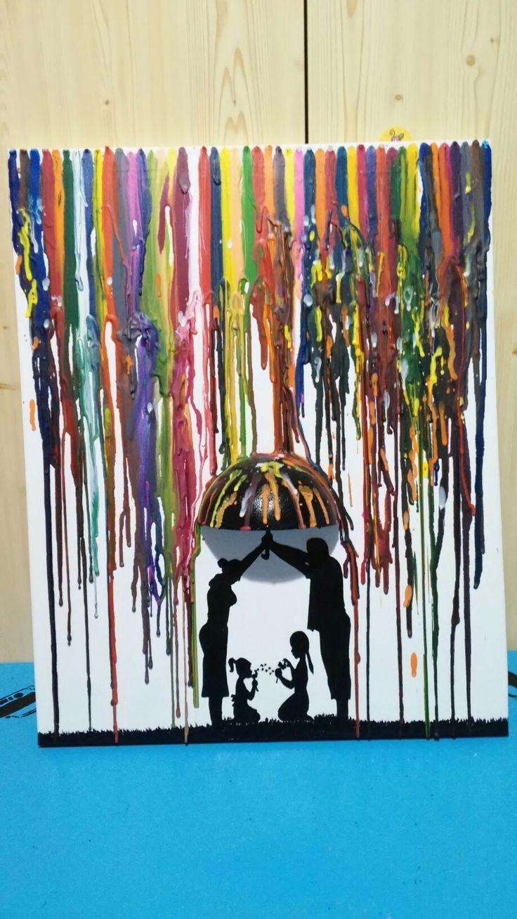 3 D. Zsírkréta kép festő vásznon