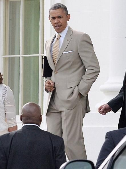 President Obama's Easter suit. Clean!  2014