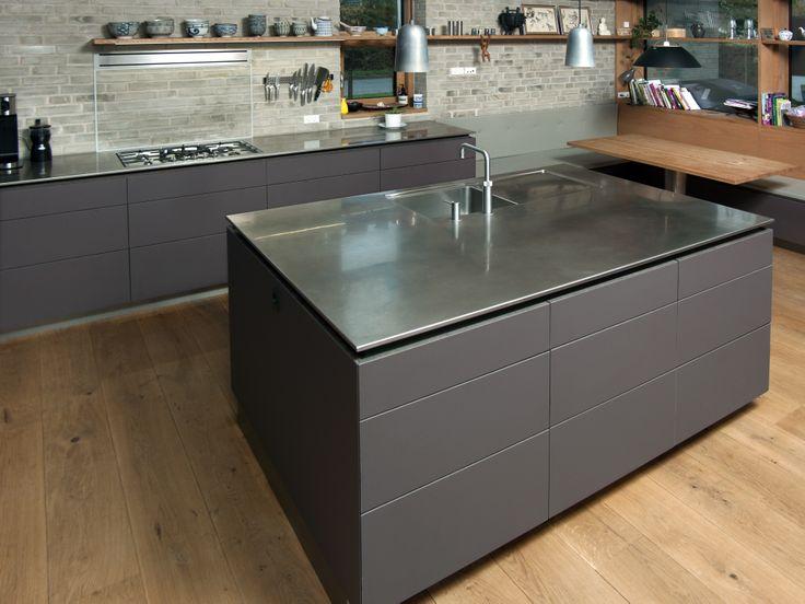 Culina Køkken, Rungsted - #køkken #skabslåger #skuffe #overflade #forbo #interiordesign #linoleum