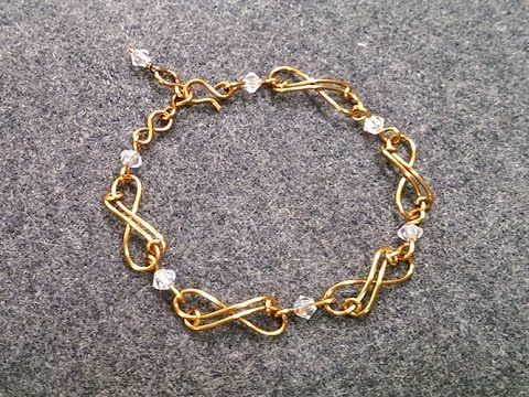 Infinity bracelet - How to make wire jewelery 202 - YouTube