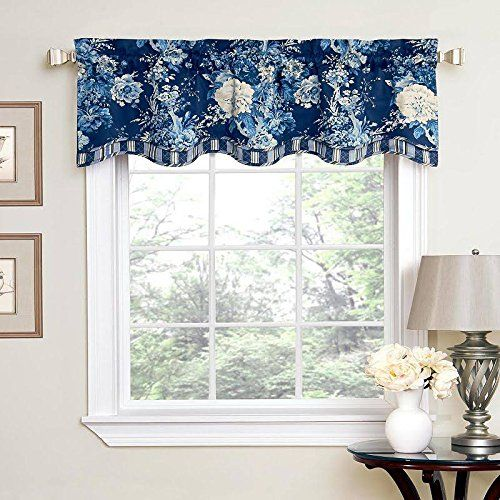 Amazon Com Waverly Ballad Bouquet Floral Window Valance