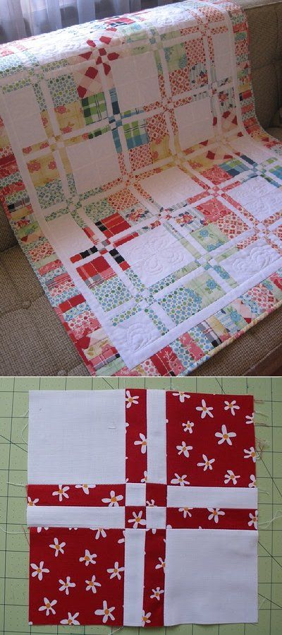 Disappearing 4-patch Tutorial #quilts #quilting #blocks #tutorial #disappearing_four_patch